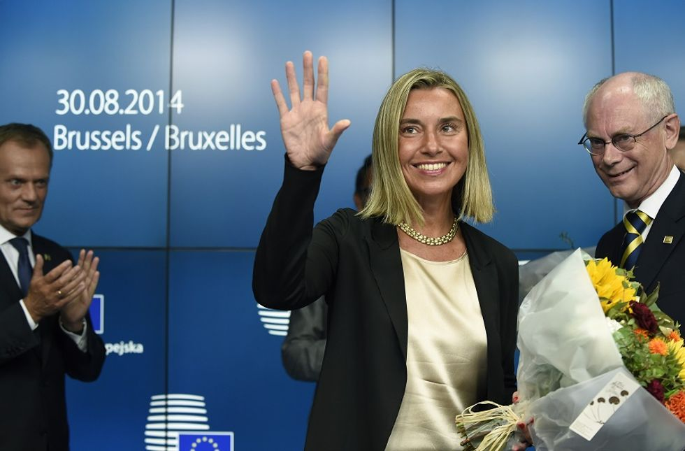 The European Council appoints Italian Minister Federica Mogherini as EU High Representative