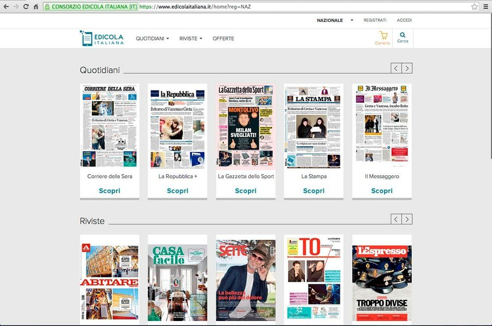 Edicola Italiana, the innovative platform to access Italian newspapers