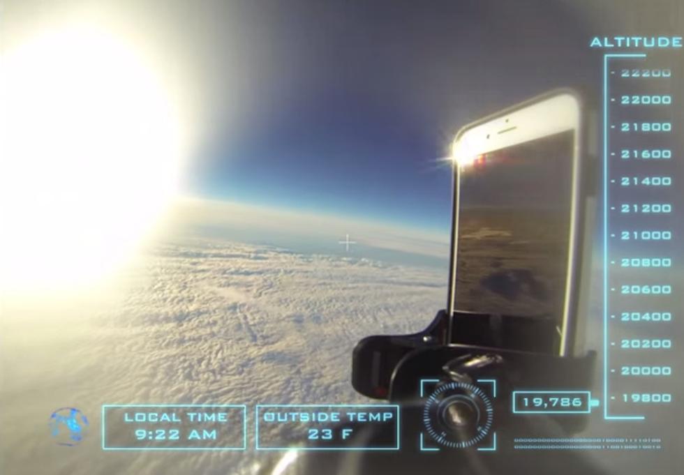iPhone lanciato nello spazio, il video
