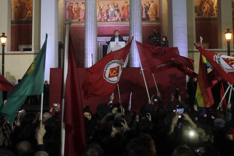 Grecia, Syriza in festa per la vittoria, le foto