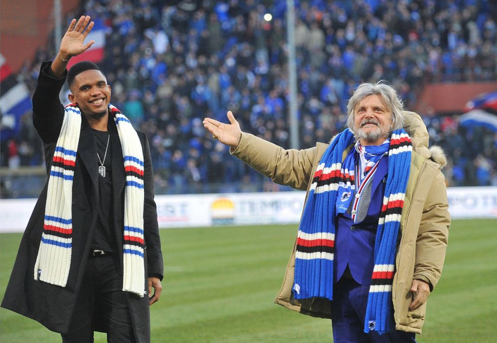 """L'annuncio di Eto'o: """"Sono della Sampdoria"""""""