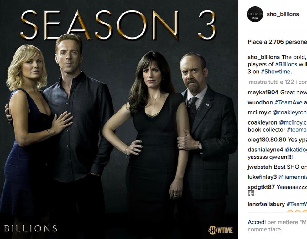 Billions, confermata la terza stagione