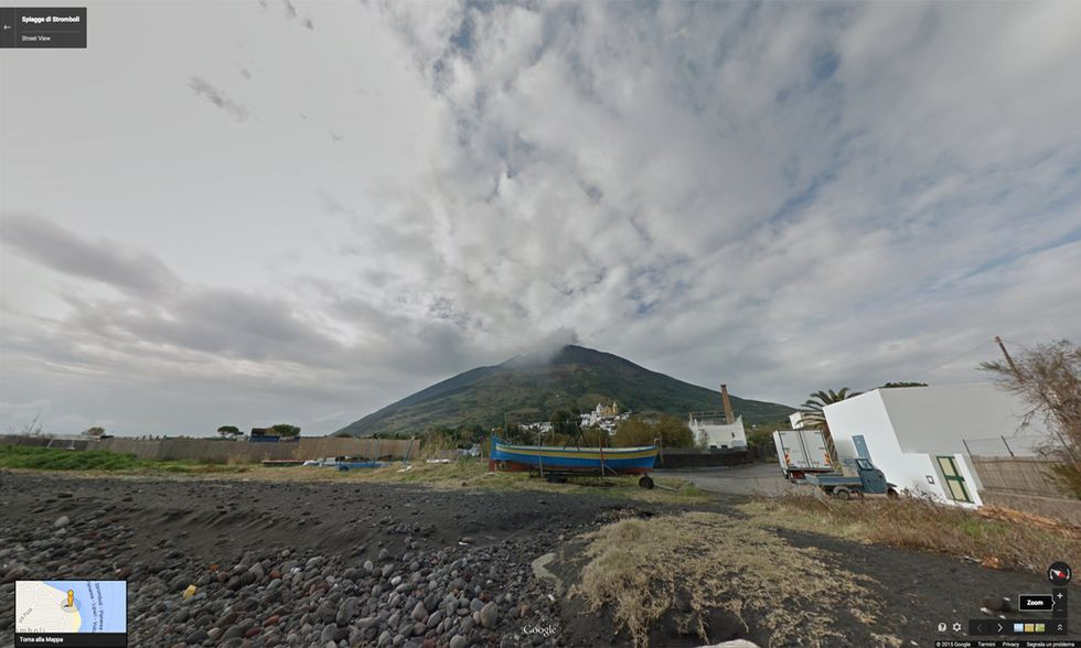 Google Street View a Stromboli
