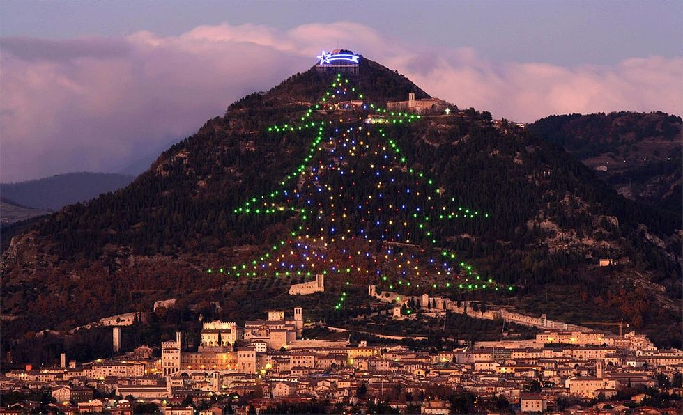The largest Christmas Tree in the world is in Italy