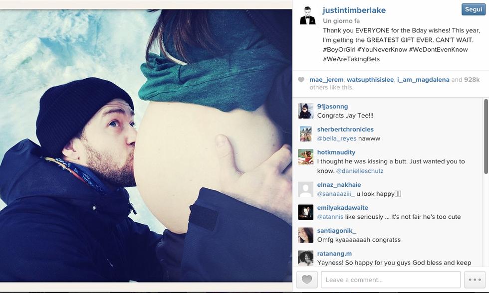 Justin Timberlake e Jessica Biel saranno genitori
