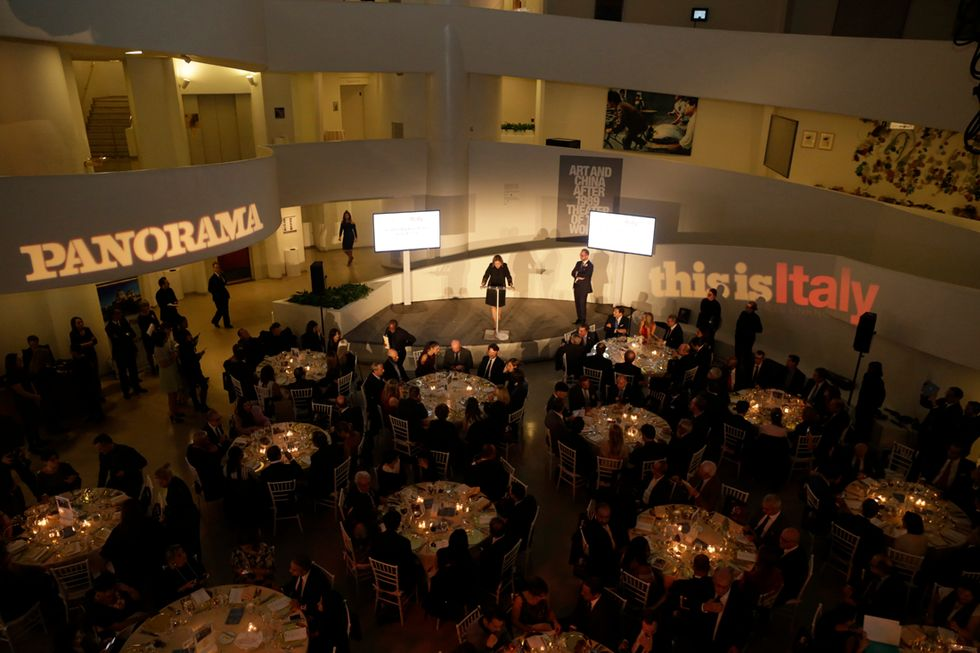 The Panorama dinner charity for Umbria in Guggenheim in New York