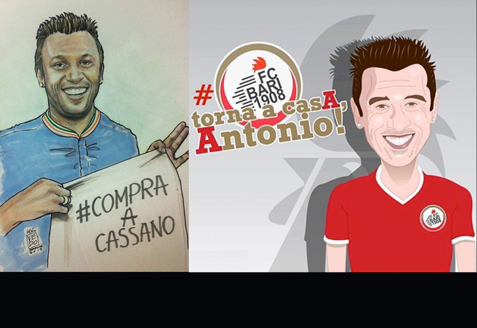 Tutta Bari vuole Antonio: da #compraacassano a #portaacassano