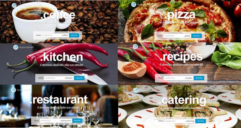 Food: 6 nuovi domini sul web