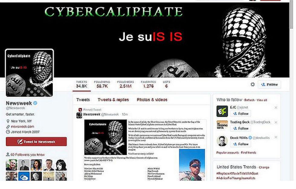 Gli hacker dell'Isis attaccano il Twitter di Newsweek