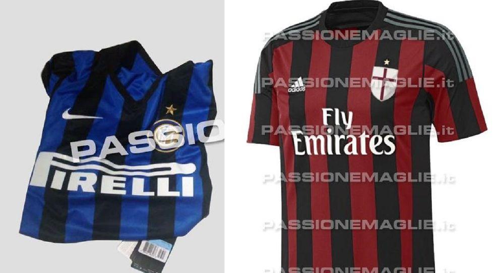 Le maglie di Inter e Milan per la stagione 2015/2016