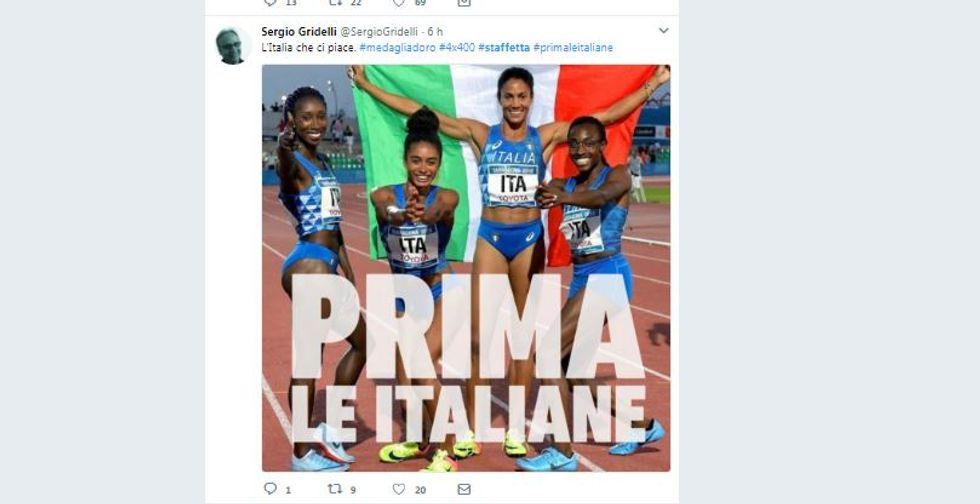 La staffetta delle italiane a Terragona diventa un caso politico via social network
