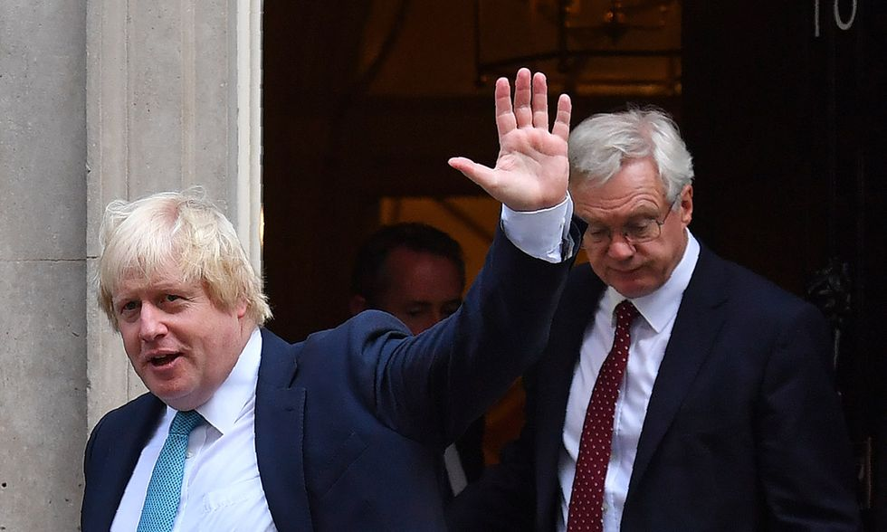 Boris Johnson e David Davis