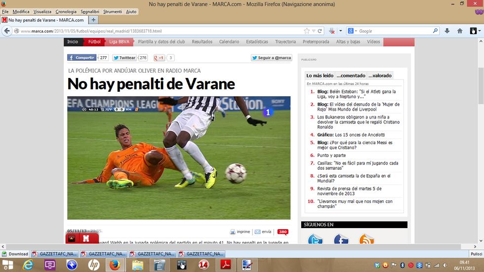 """Marca: """"Inesistente il rigore su Pogba"""""""