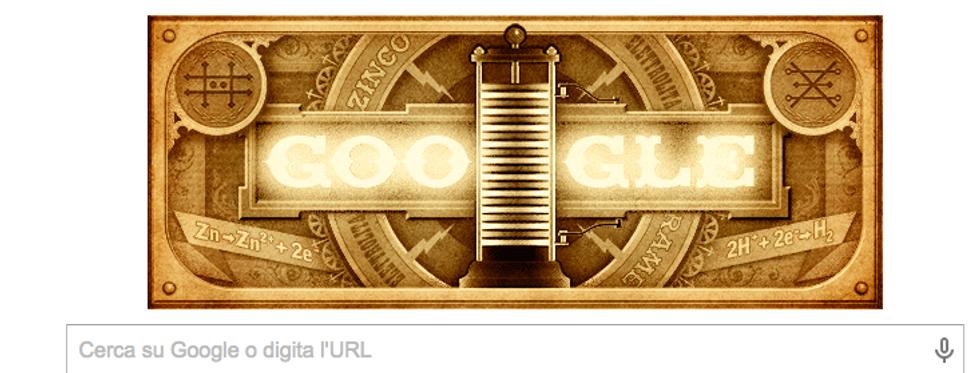 Google: un doodle per Alessandro Volta