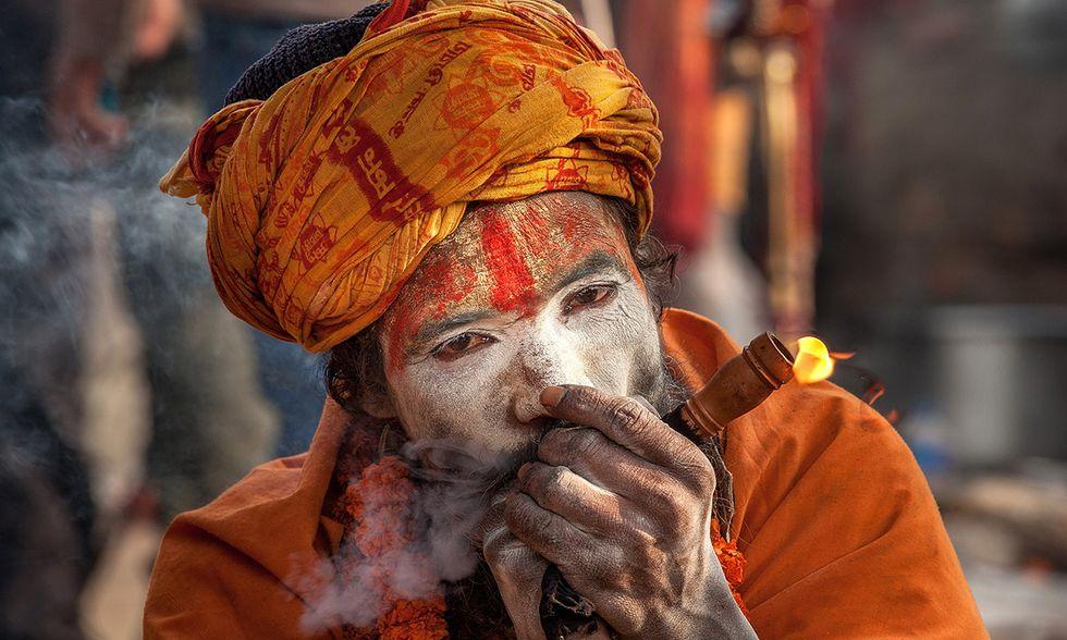 Nepal, i sadhu indù al Maha Shivaratri