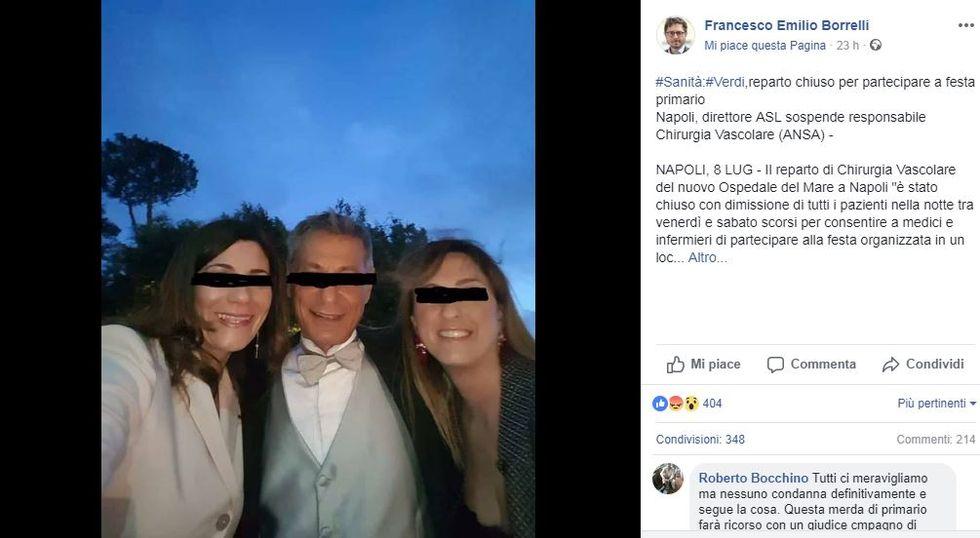 La denuncia via Facebook del consigliere comunale Francesco Emilio Borrelli