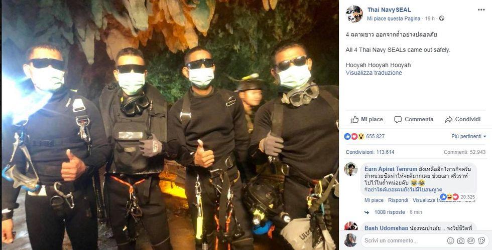 I 4 Thai Navy Seals che hanno salvato la squadra rimasta bloccata nella grotta in Thailandia
