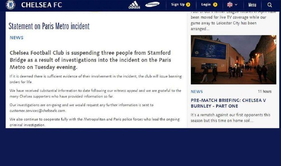 Esempio Chelsea, i razzisti di Parigi espulsi a vita dallo stadio