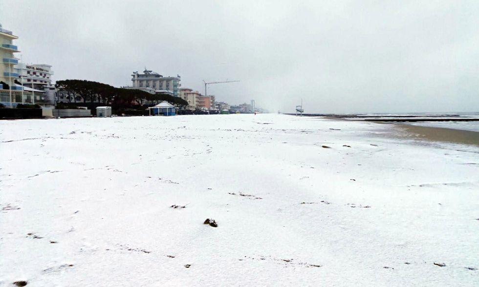 Spiagge imbiancate