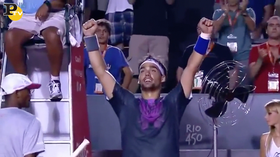 Fognini batte Nadal: incredibile match point
