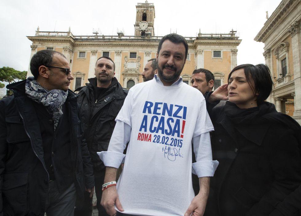 La marcia su Roma di Matteo Salvini