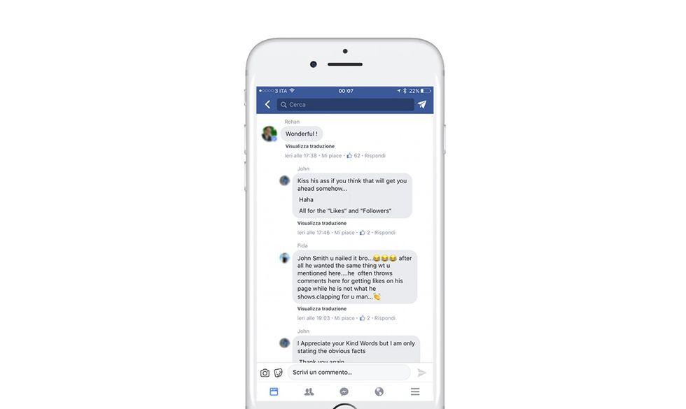 Facebook: i nuovi commenti sembrano una chat