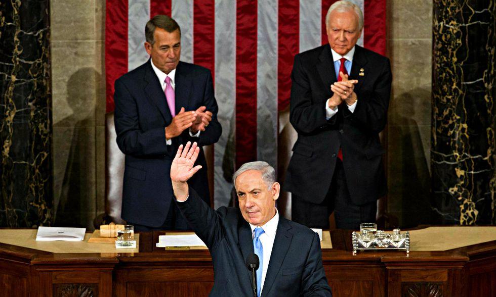 Benjamin Netanyahu al Congresso USA