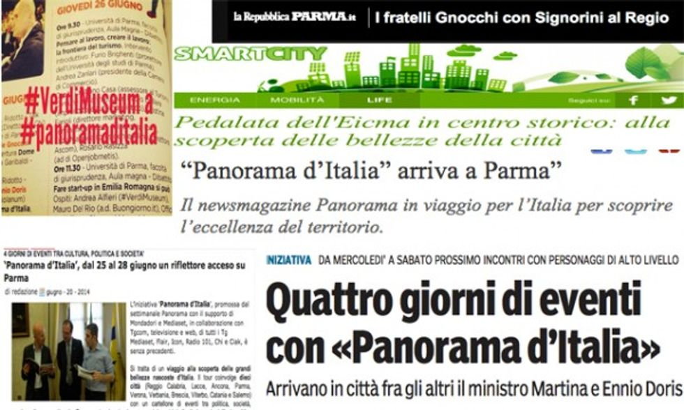 Parma: la rassegna stampa