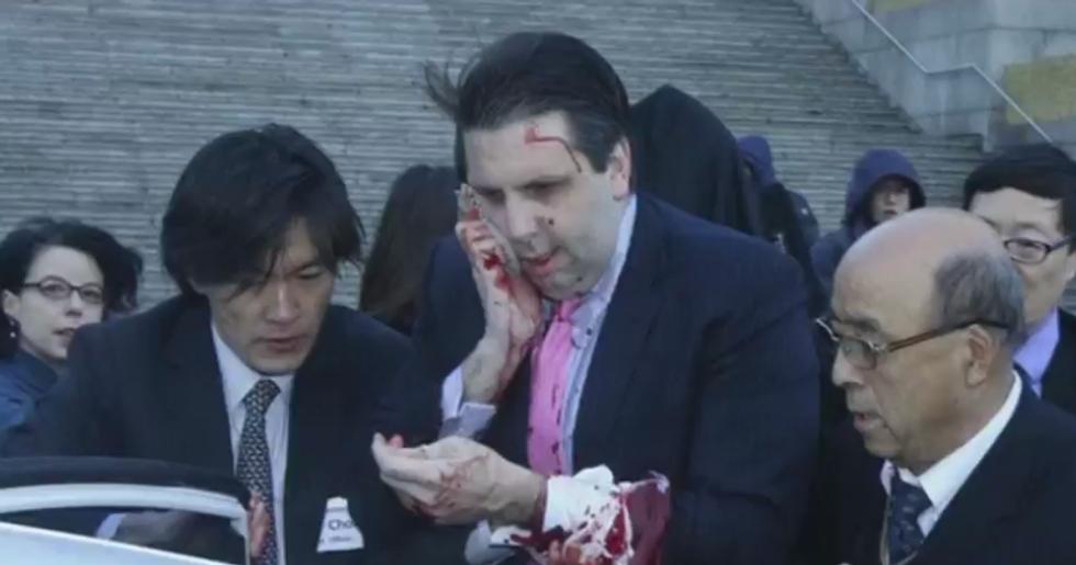 L'ambasciatore americano ferito a Seul