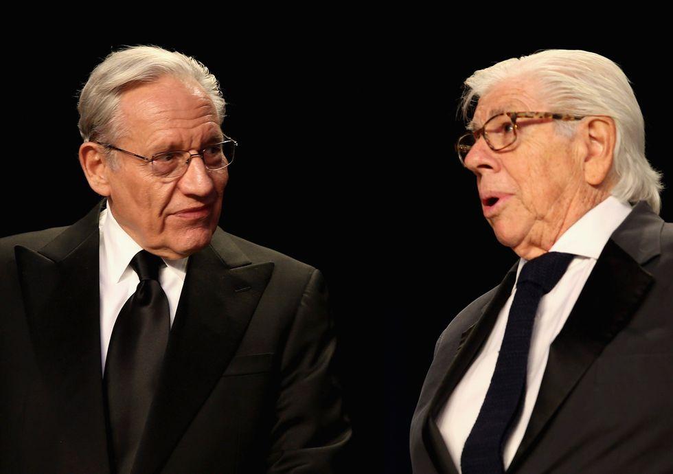 I giornalisti Bob Woodward e Carl Bernstein, i reporter che hanno portato alla luce quello che poi è passato alla storia come lo scandalo Watergate