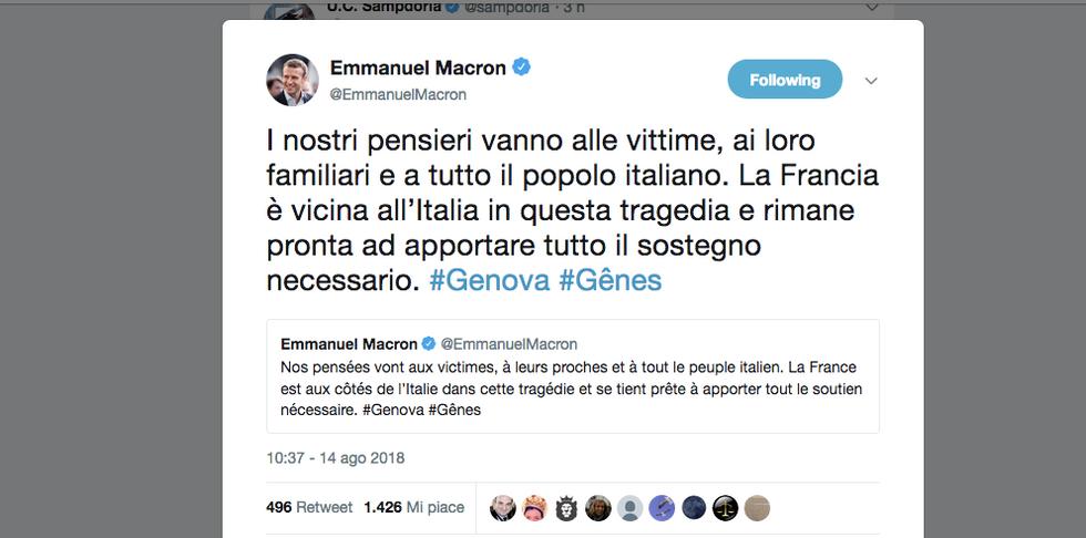 Macron-messaggio-genova