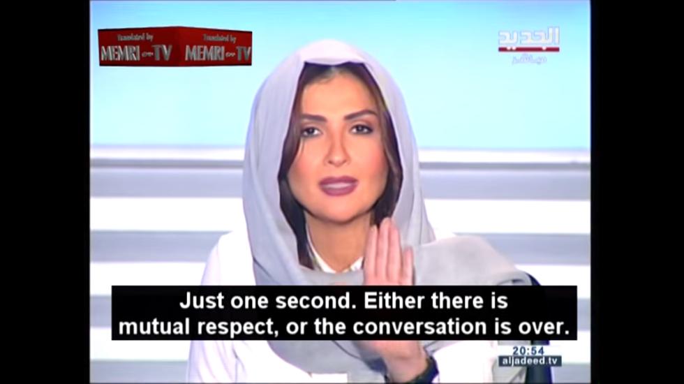 Conduttrice libanese zittisce l'islamista e diventa star