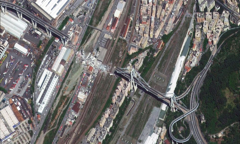 Satellite sul ponte Morandi