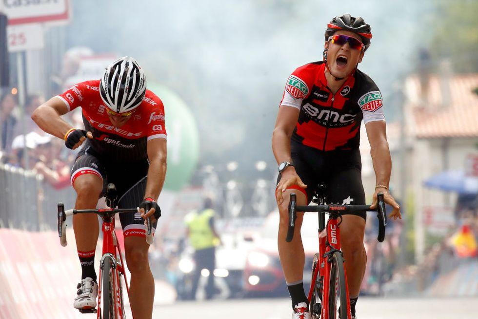 Giro d'Italia 2017, 6a tappa: vittoria per Dillier, Jungels resta rosa