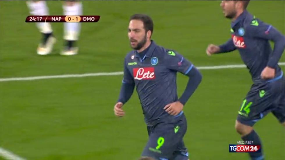 Europa League, Napoli-D. Mosca 3-1: le immagini