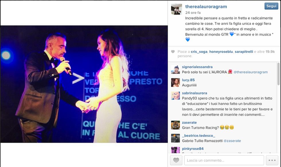 X Factor 9, Eros Ramazzotti sbotta e difende la figlia Aurora dalle critiche