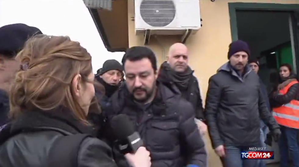 Salvini al Cara di Mineo