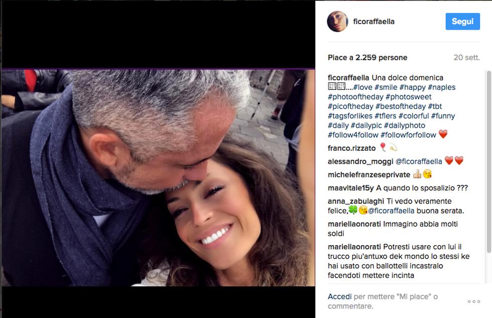 Raffaella Fico e Alessandro Moggi