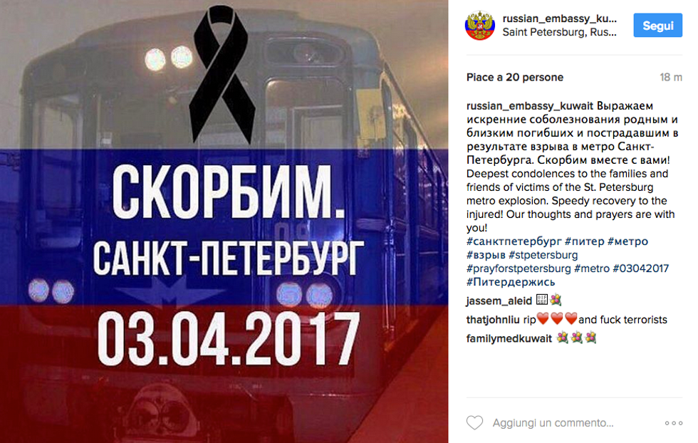 Attentato a San Pietroburgo, le reazioni dei social network
