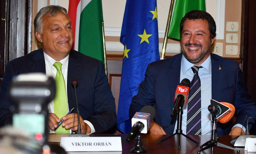 Matteo Salvini e Viktor Orban