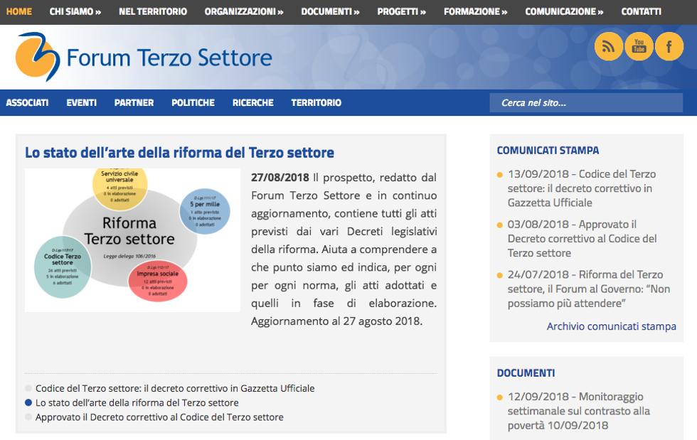 Forum Terzo Settore: pollice su per la riforma