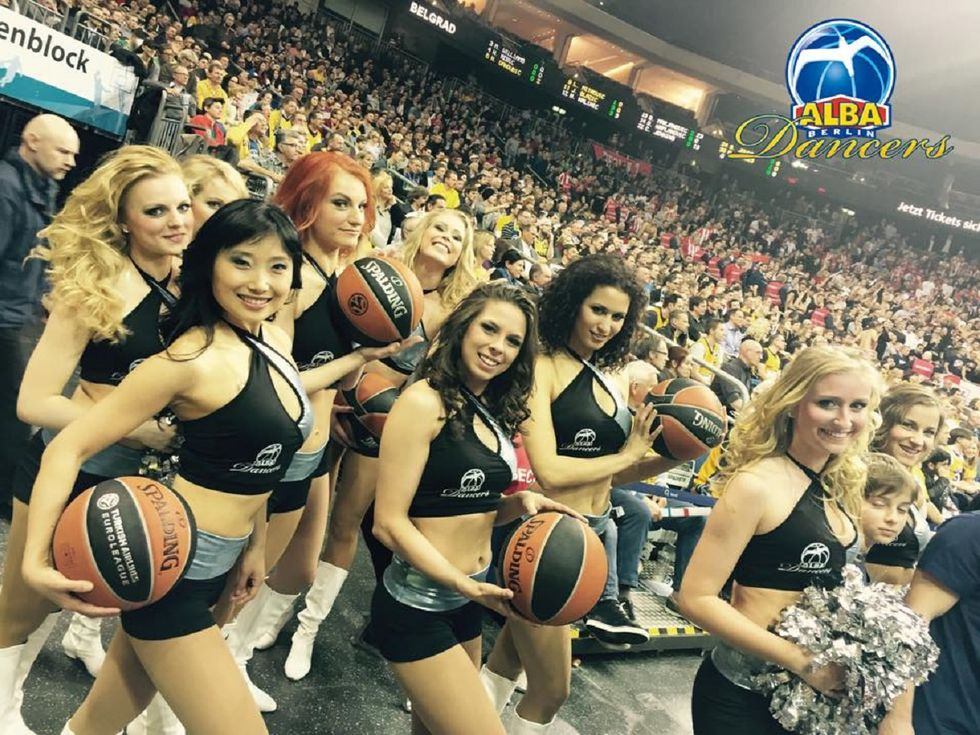 Alba Berlino, le regine europee tra le cheerleaders