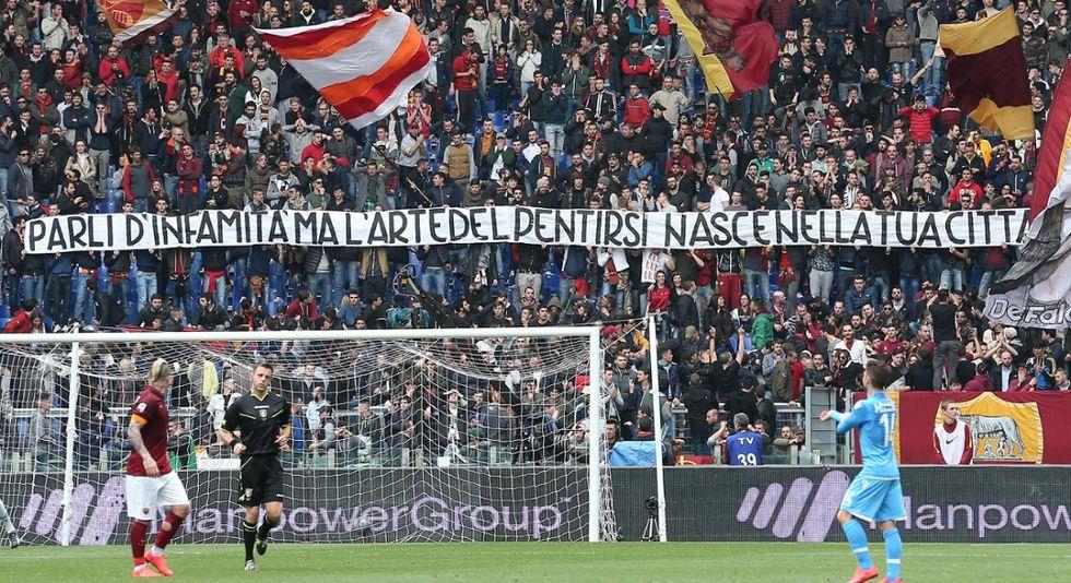 Roma e gli striscioni della vergogna contro la madre di Ciro Esposito