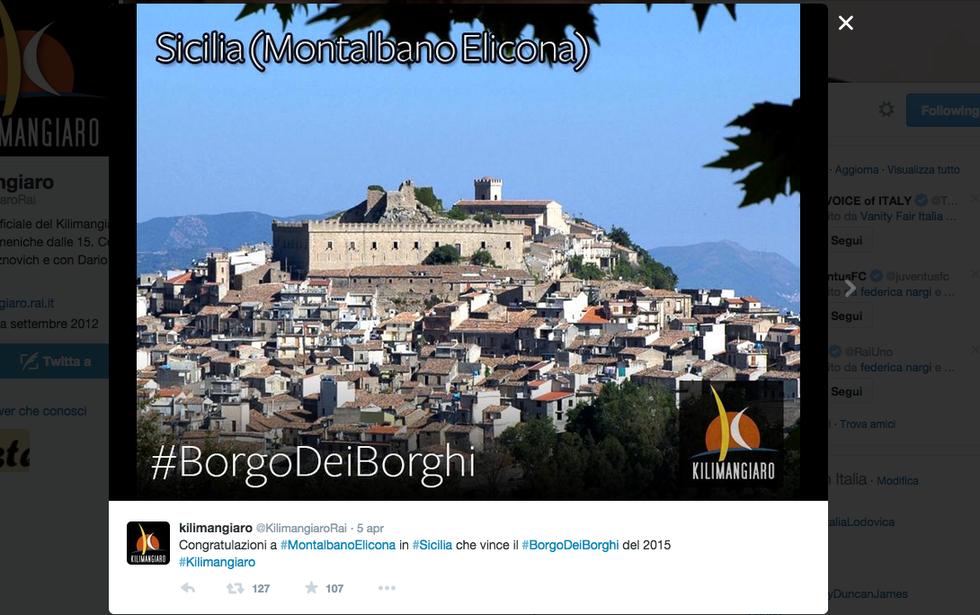 Montalbano Elicona è il borgo più bello d'Italia