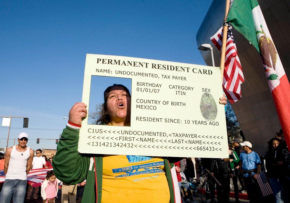 Usa-Grenn-Card