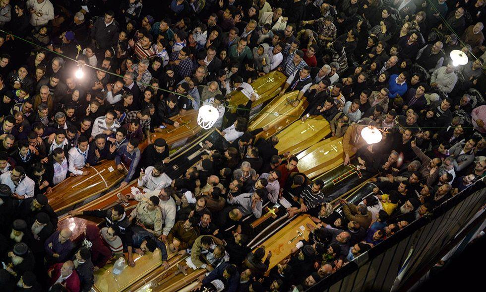 Funerali copti Tanta Egitto