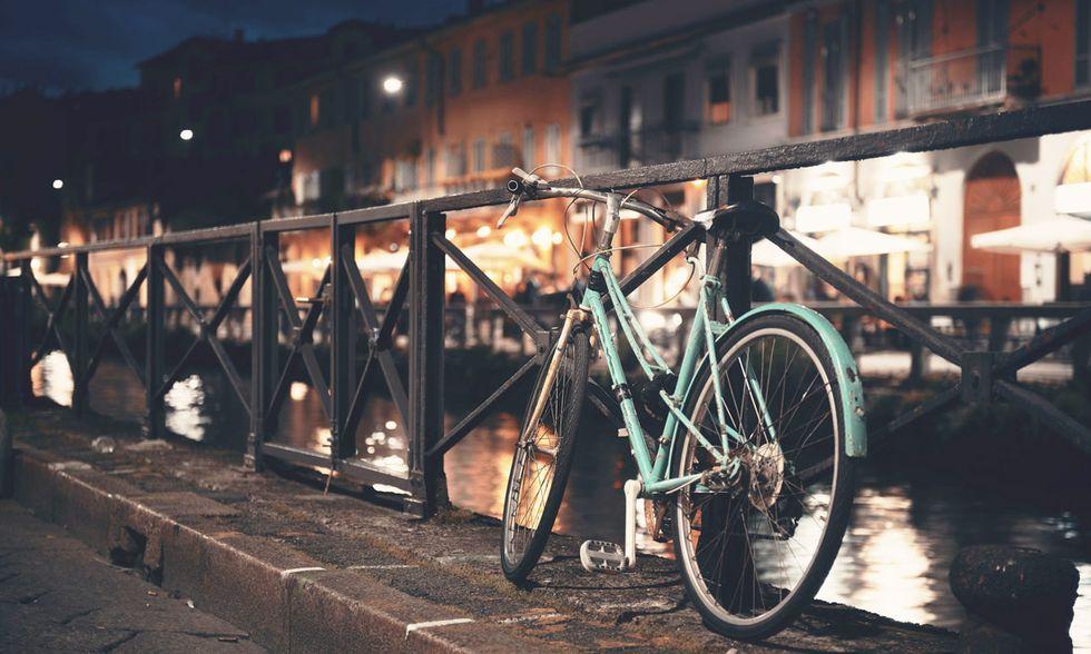 Milano, Naviglio Grande, bici