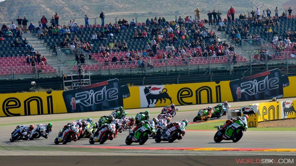Superbike ad Aragon, prima tappa europea 2015