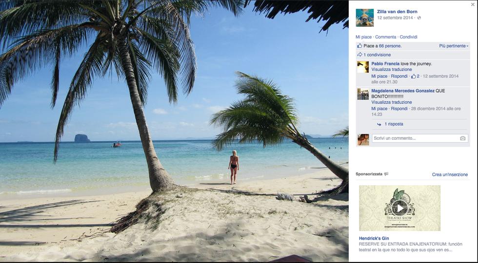 La storia di Zilla Van Den Born, turista in Thailandia dalla camera da letto