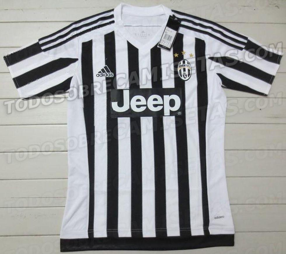 Svelata la maglia Juventus 2015-2016: tornano le stelle